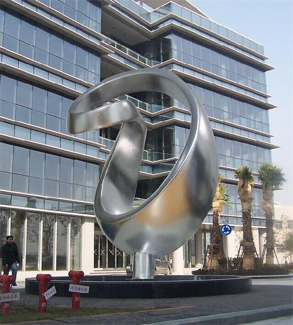 户外广场大型不锈钢雕塑制作厂家(人物几何抽象城市文化浮雕造型三维