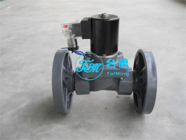 上海台鸣电磁阀有限公司cpvc法兰电磁阀适用食盐水,强酸,耐强碱等腐蚀图片