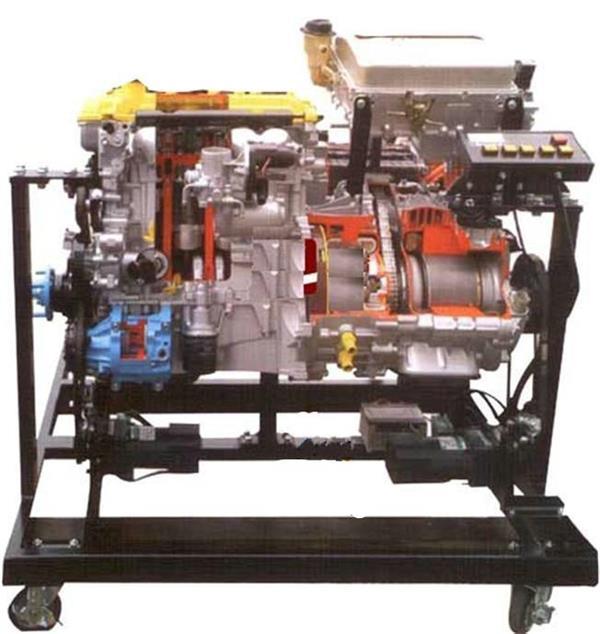 汽车油电混合动力系统解剖模型高清图片