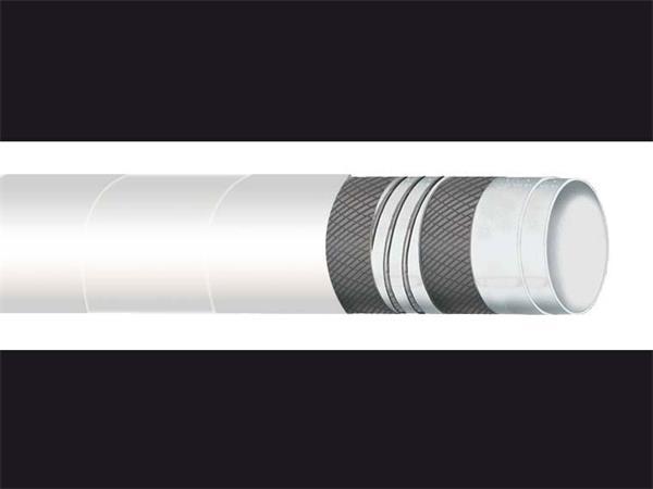 外管:白色epdm橡胶平滑食品级抗磨损耐臭氧耐大气侵蚀布状表面