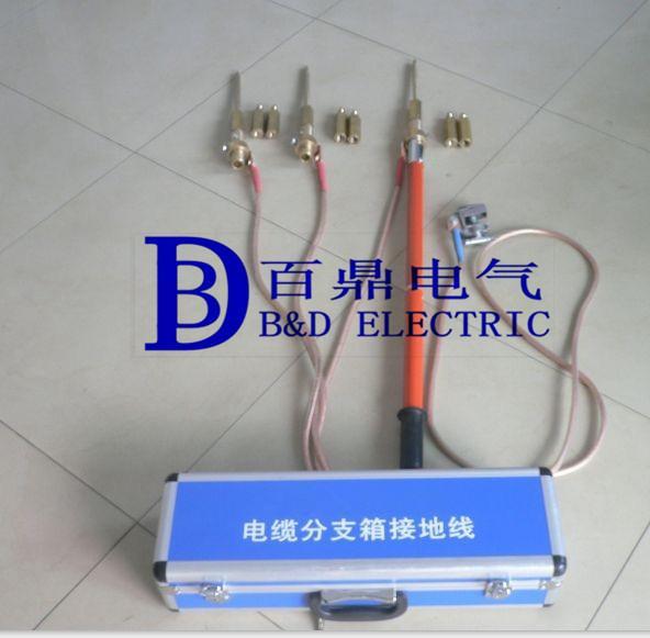 同时电缆分支箱可配带电源指示器,故障指示器,硅橡胶全绝缘的插入避雷