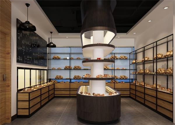 成都面包店装修设计 专业面包店装修设计 成都设计装修公司图片