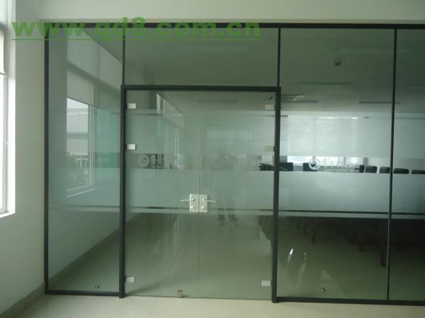 北辰区玻璃隔断安装定做室内玻璃隔墙效果最佳高清图片