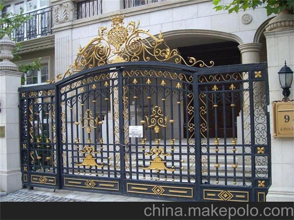 天津南开区铁艺大门设计安装铁艺大门欧式风格免费量