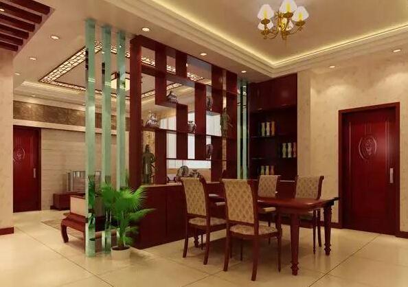 将餐厅和客厅空间有效的隔开,而隔断本身,还可以当做置物架使用,放上