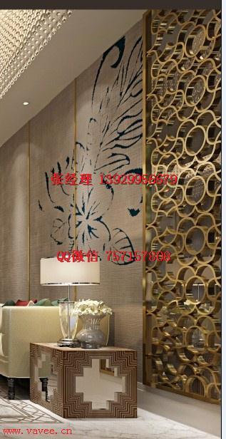 不锈钢花格镂空浮雕欧式铝板隔断屏风