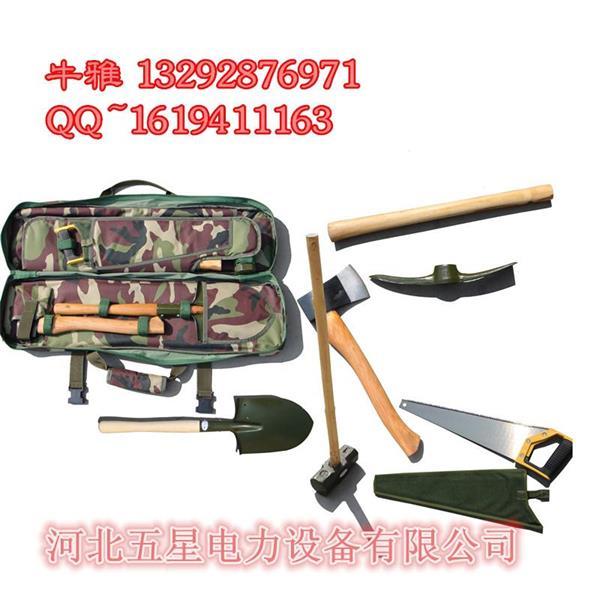 【3】森林消防组合工具包8件套:技术参数:本工具包采用涤纶涂层织物