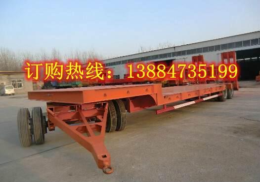 13.5米高低高低平板半挂拖车尺寸出口非洲价格报价