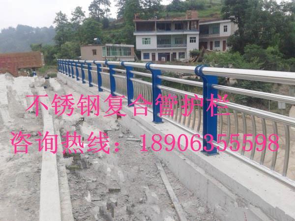 不锈钢复合管护栏 桥梁护栏不锈钢复合管图片