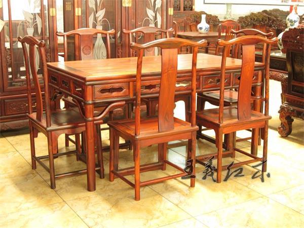 酸枝木餐桌价格 长方形酸枝餐桌