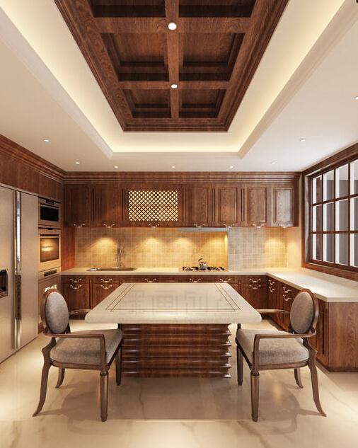 上海别墅装修|欧式风格别墅厨房设计
