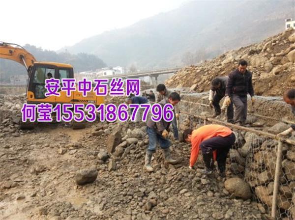 护坡格宾石笼护岸@5%-10%铝锌合金格宾笼防洪