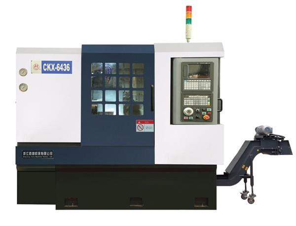 嘉湖机床JH-CK6436斜床身数控车床采用排刀,大批量,高效率