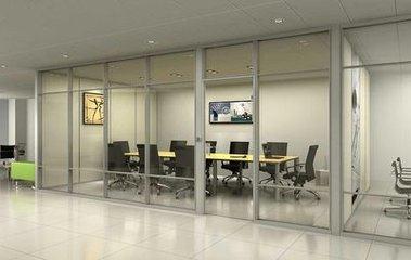 安装玻璃门 定做办公室玻璃隔断样式多技术好图片