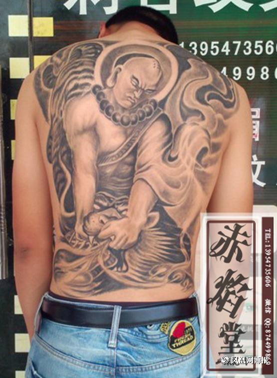 山东纹身 满背纹身 身有佛陀