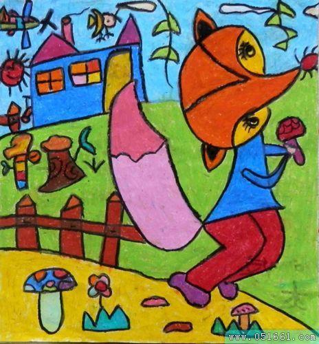 嘉定少儿画画培训 幼儿绘画基础入门 学蜡笔画手工贴画