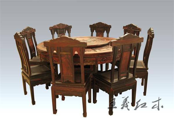 古典 王义 餐桌/济南最新款缅甸花梨餐桌缅甸花梨餐桌图片