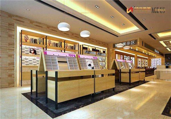 眼镜店热线装饰【传美装修平面一梯三户店面设计图图片
