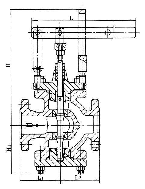 y45h杠杆式蒸汽减压阀 结构图 原理图 说明书 价格表