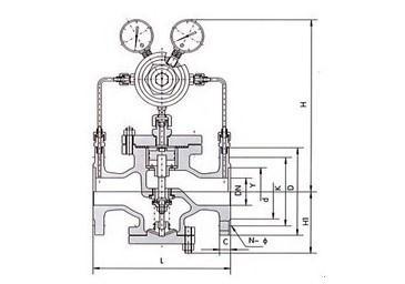 yk43f活塞式气体减压阀 结构图 原理图 说明书 价格表