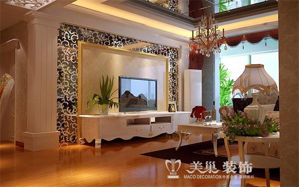 保利海上五月花设计装修效果图——客厅电视背景墙