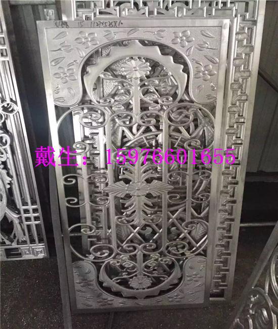 各种中式仿古铜铝板做旧镂空花格屏风隔断屏风,如青古铜做旧透雕屏风