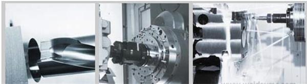 威达重工HMC320四工位卧式钻攻中心具有高效率、高精度、高刚性是大、中批量零件加工的理想设备