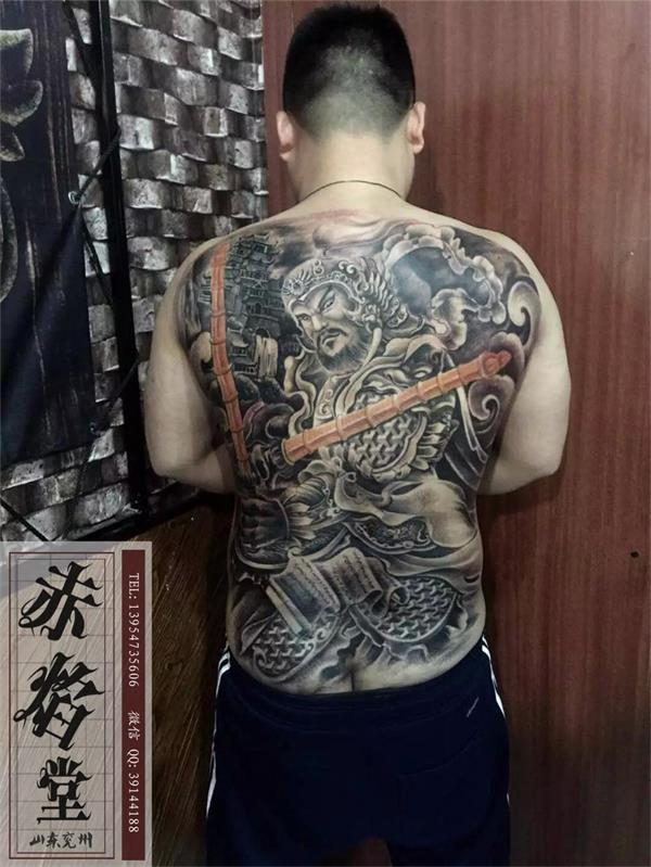山东纹身 满背纹身 赵云纹身 男士纹身