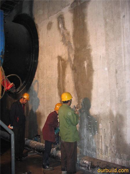 飞机场地下室伸缩缝漏水堵漏施工