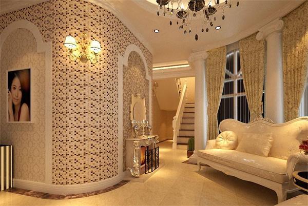美容院装修设计效果图 美容院装修橱窗设计往往使用具有高档的品牌