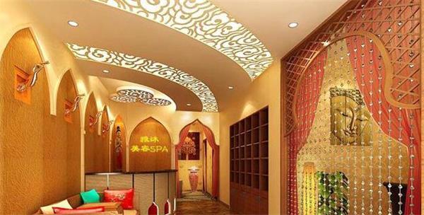 郑州美容院装修不同风格的形象墙可以装修出不一样的