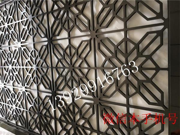 苏州酒店大堂金属不锈钢雕花效果图屏风隔断背景墙 厂家定做