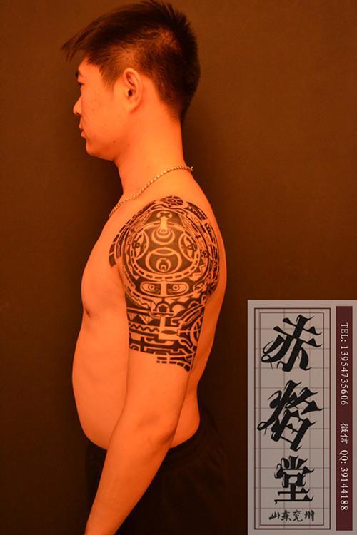 有纹身了他显摆呗,想试试公关的威力又多大,他把纹身当什么了?