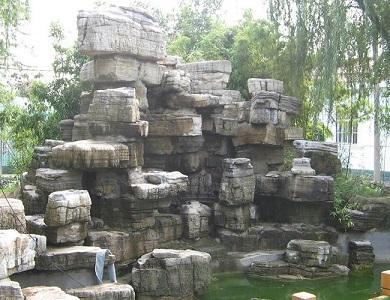 电话:0312-4954805  地址:河北保定唐县北环工业区 水泥假山的造型:塑图片