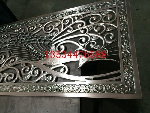济宁方格形状镂空铝雕花屏风