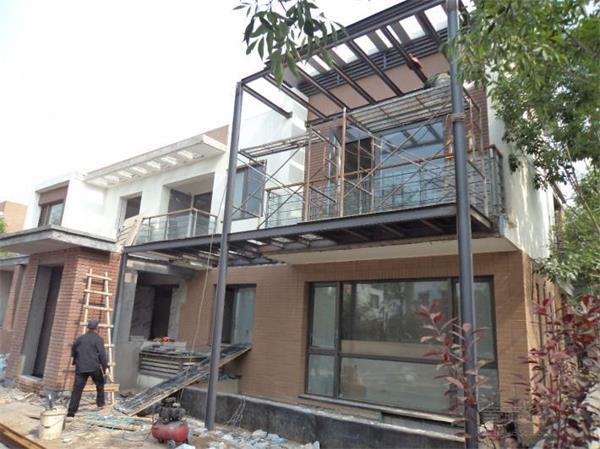 旧房改造加建木阳台改造效果图客厅阳台改造图片2