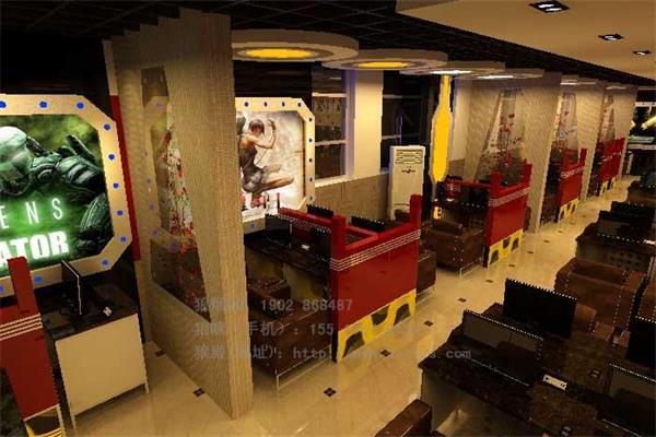 网吧网咖装修设计效果图-网吧网咖装修设计色彩情绪渲染高清图片
