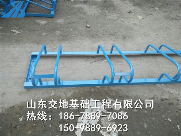 停车架 螺旋式自行车停车位 停放架 自行车地锁