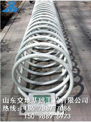 忻州螺旋式自行车停车架 圆形自行车架 停车位螺旋式停车架