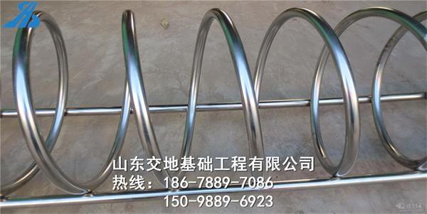安徽宣城螺旋式自行车停车位 停放架 圆形自行车架