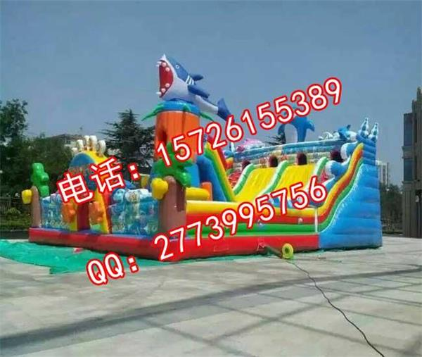 唐山充气滑梯_大型支架游泳池