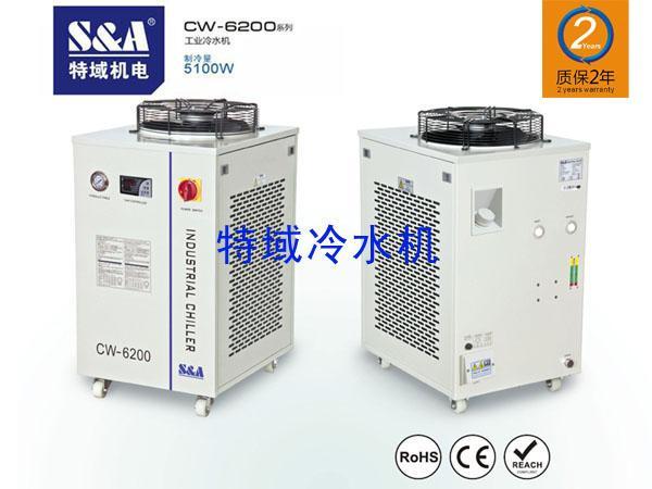 S A工业冷水机用于冷却汽车内饰激光裁床高清图片