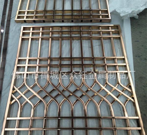 艺术铝板浮雕花纹仿古铜屏风 中式铝板雕刻屏风