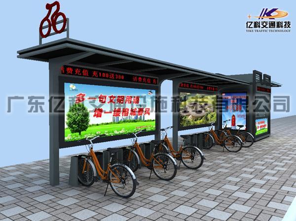 自行车棚,自行车棚安装,自行车棚报价 自行车亭棚制造厂家图片