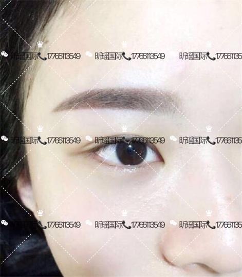 韩式线条加雾眉的图片大全