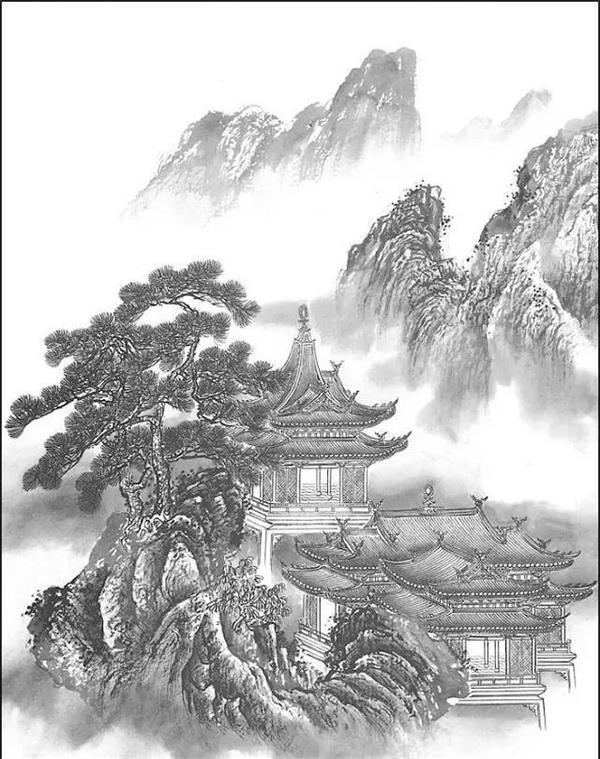 [钟灵毓秀]山水工笔画