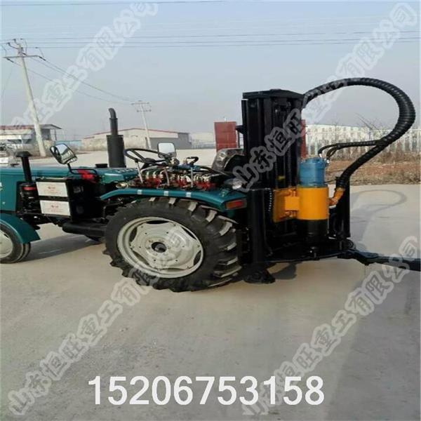 高效 hqz100冲击水井钻机采用新型液压技术,配套大扭矩液压马达回转图片