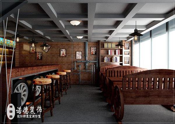 郑州工业型餐厅设计|复古工业风餐饮店如何装修
