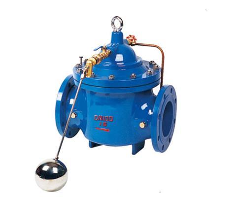100x遥控浮球阀 液压水位水力控制阀 水箱浮球阀图片