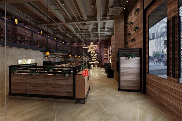 材料主要是钢结构,木板,彩色水泥漆和手工红色砖来组成的,二楼空间是